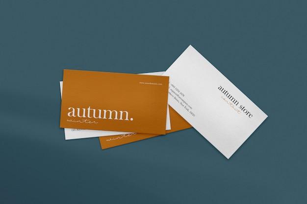Clean minimal business card mockup