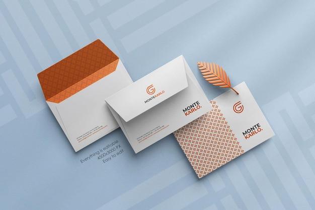 C6サイズのカスタムシーンクリエーターで最小限の企業封筒モックアップをクリーンアップ