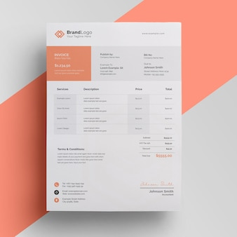 Clean minimal invoice template