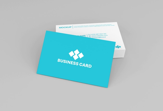 Чистый минимальный бумажный макет визитной карточки