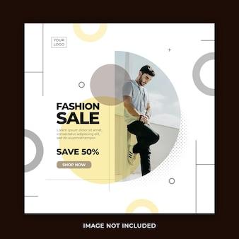 Clean minimal stylish fashion sale instagram post