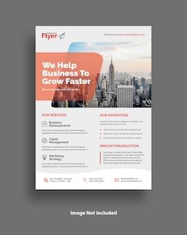 Clean minimalist a4 corporate business flyer template design