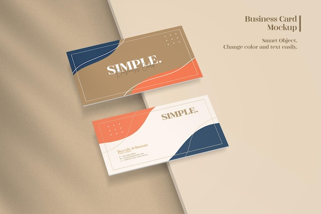 Clean and minimalist business card mockup