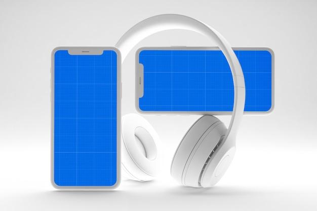 Чистый мобильный музыкальный макет приложения