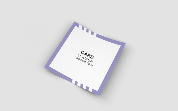 Clean mockup in a square card format