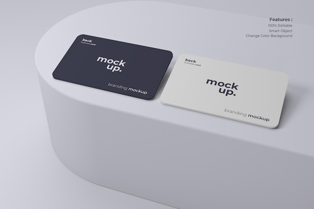 Clean and modern business card mockup