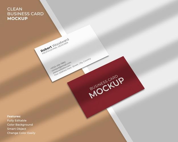 Чистый и современный макет визитки