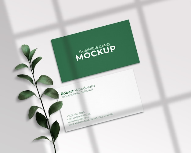 Clean & modern business card mockup