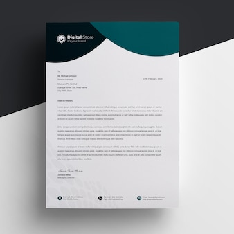 Clean and modern letterhead  template