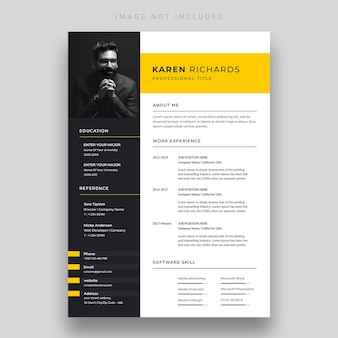 Clean and modern resume or cv template