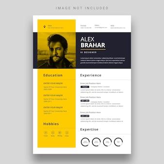 Clean  modern resume or cv template