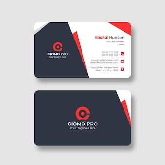 Clean professional business card template