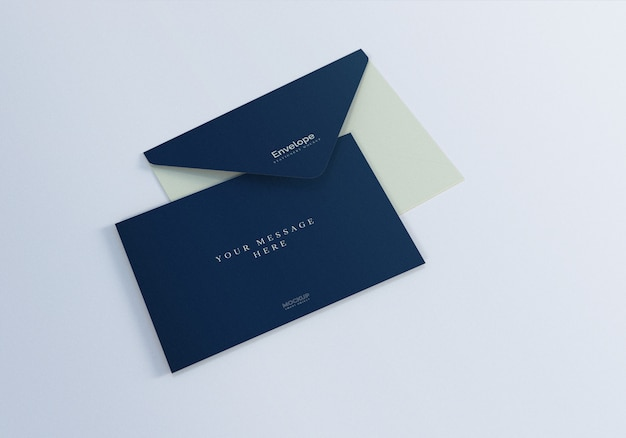 Clean realistic envelope mockup