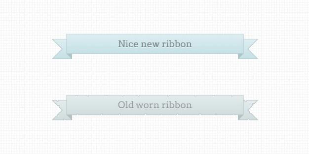 Clean ribbons design psd material