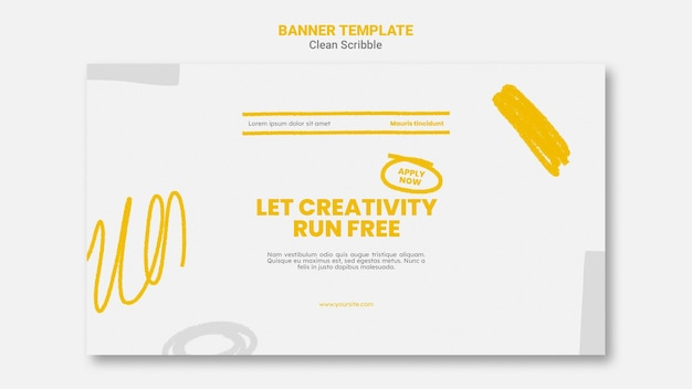 Clean scribble banner template