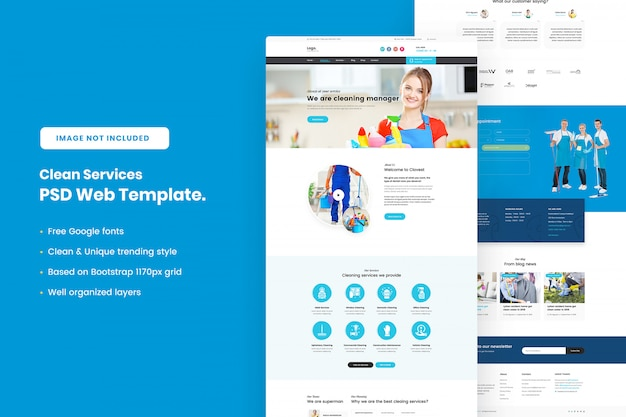 Clean services web template