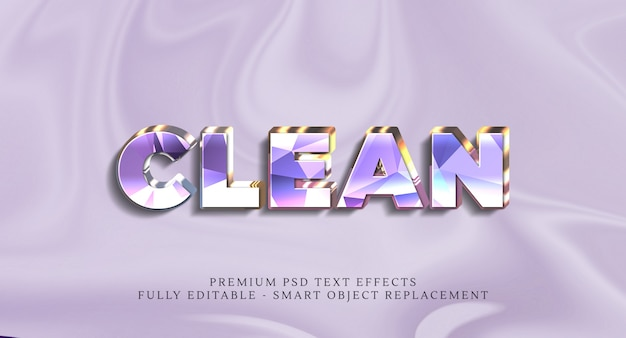 Clean text style effect psd , premium psd text effects