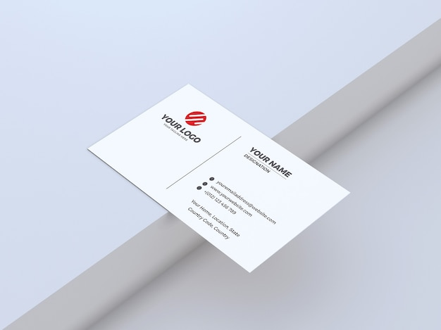Clean and white background business card mockup