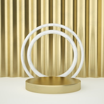 Clean white gold product pedestal