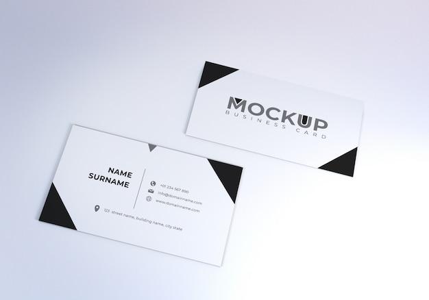 きれいな白い現実的な名刺のモックアップ