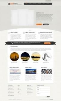Clean wordpress template psd