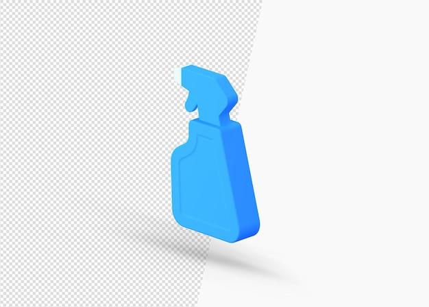 Очиститель распылитель бутылка изометрическая 3d значок