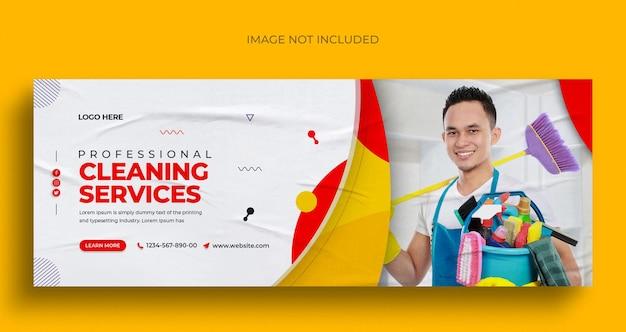 Служба уборки в социальных сетях, публикация в instagram, веб-баннер или шаблон обложки facebook