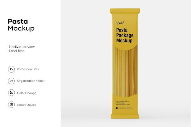 Clear plastic spaghetti packaging mockup