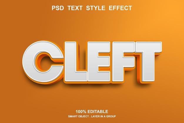 Шаблон текстового эффекта расщелины