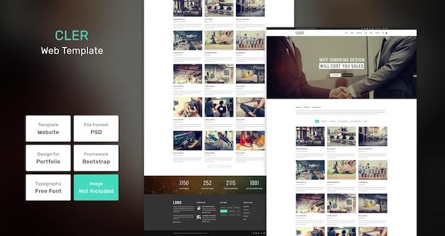 Cler portfolio web template