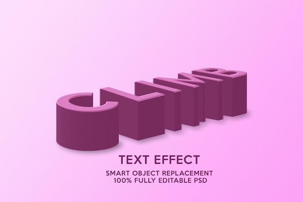 Шаблон текстового эффекта восхождения
