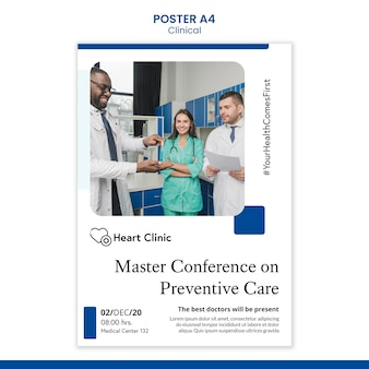 Clinical poster template with photo