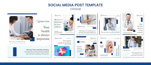 Clinical social media posts template