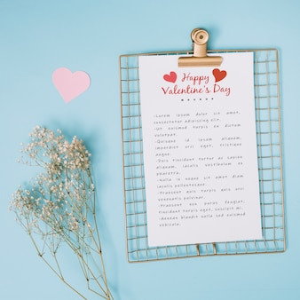 Clipboard mockup for valentine
