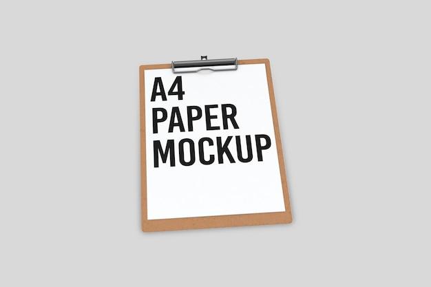 문서 모형 디자인이있는 클립 보드