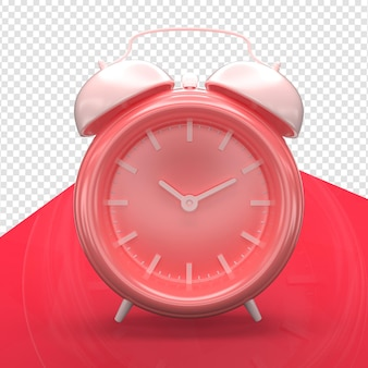 Clock alarm 3d render minimalist