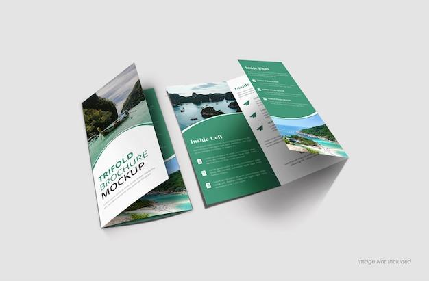 Close tri-fold brochure mockups