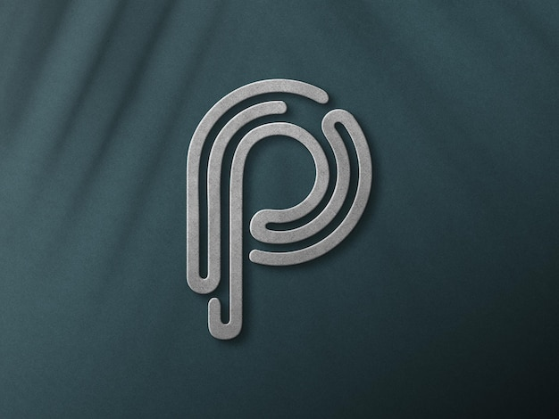 Close up on 3d logo mockup design