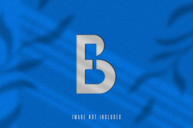 Close up on 3d logo mockup rendering