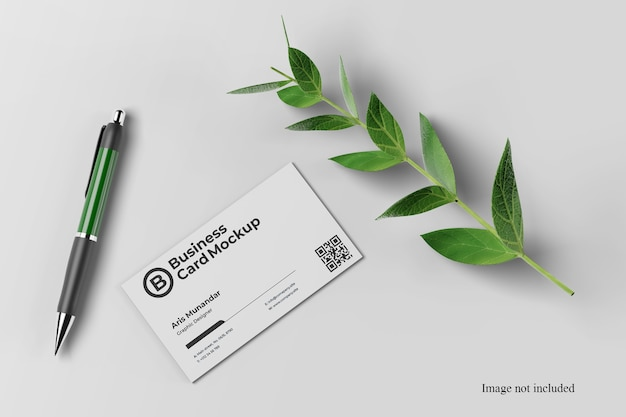 Close up on awesome business card mockup