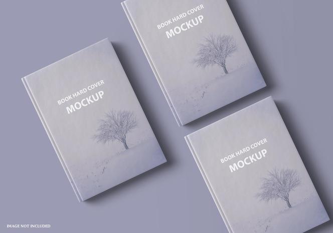 close up on beautiful book hard cover mockup design