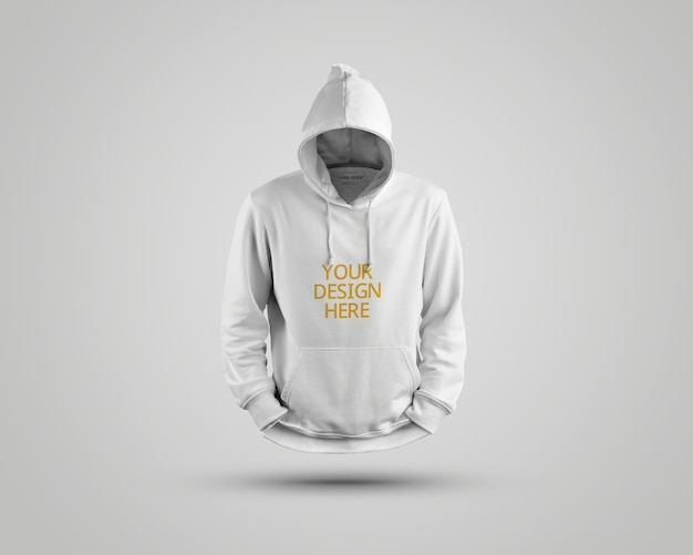 Close up on beautiful hoodie mockup isolated