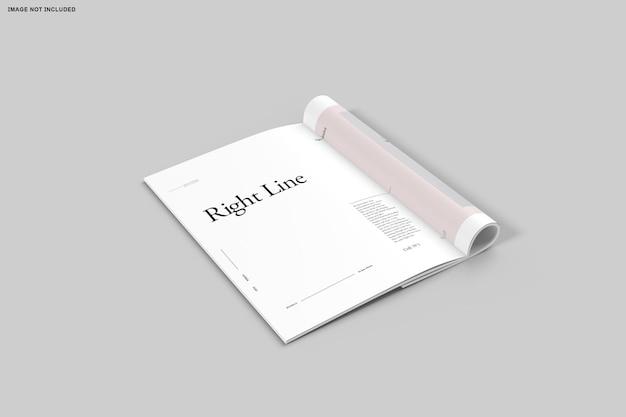 Close up on bifold brochure catalog