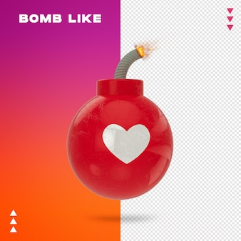 Close up on bomb like 3d rendering