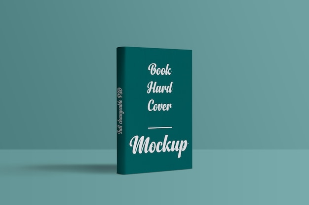 Close up on book cover mockup design isolated