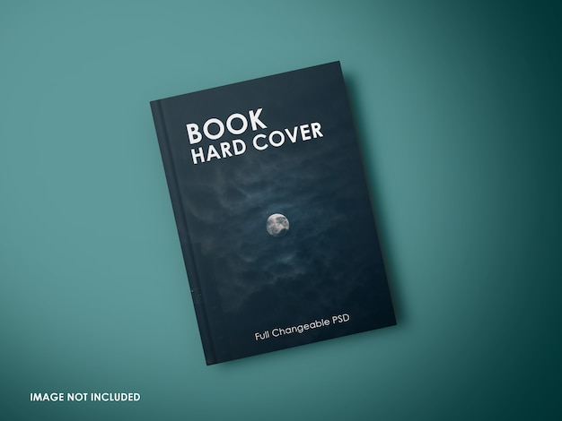 Close up on book cover mockup isolated