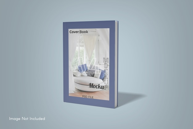 Close up on book cover mockup