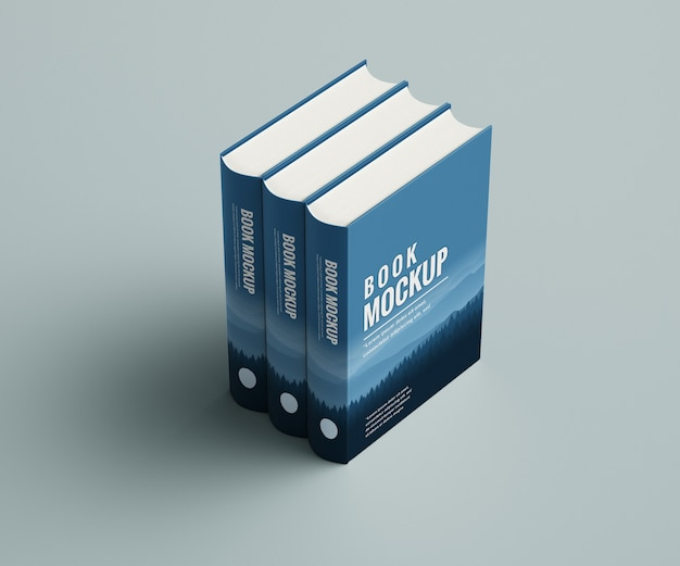 Close up on book mockup isolated
