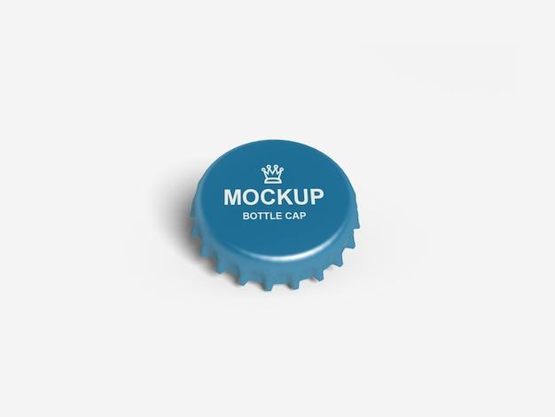 Close up on bottle cap mockup isolated