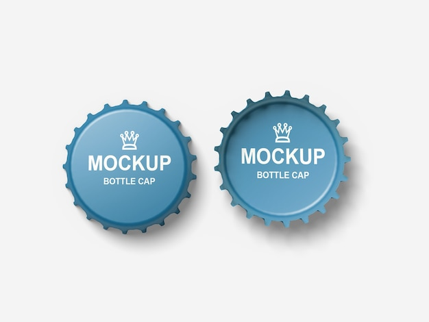Close up on bottle cap mockup isolated